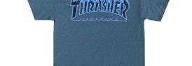 160805ThrasherFlameLogoDarkHeatherTee