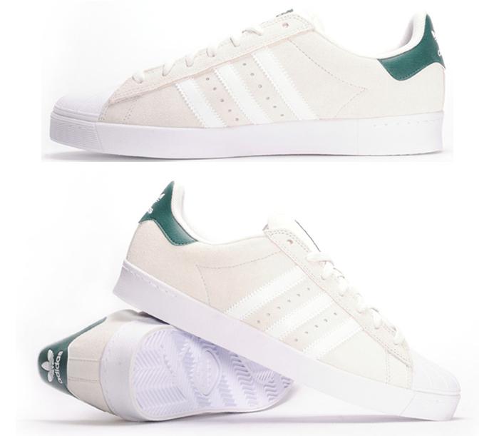 AdidasSuperstarVulcAdvWhiteGreen