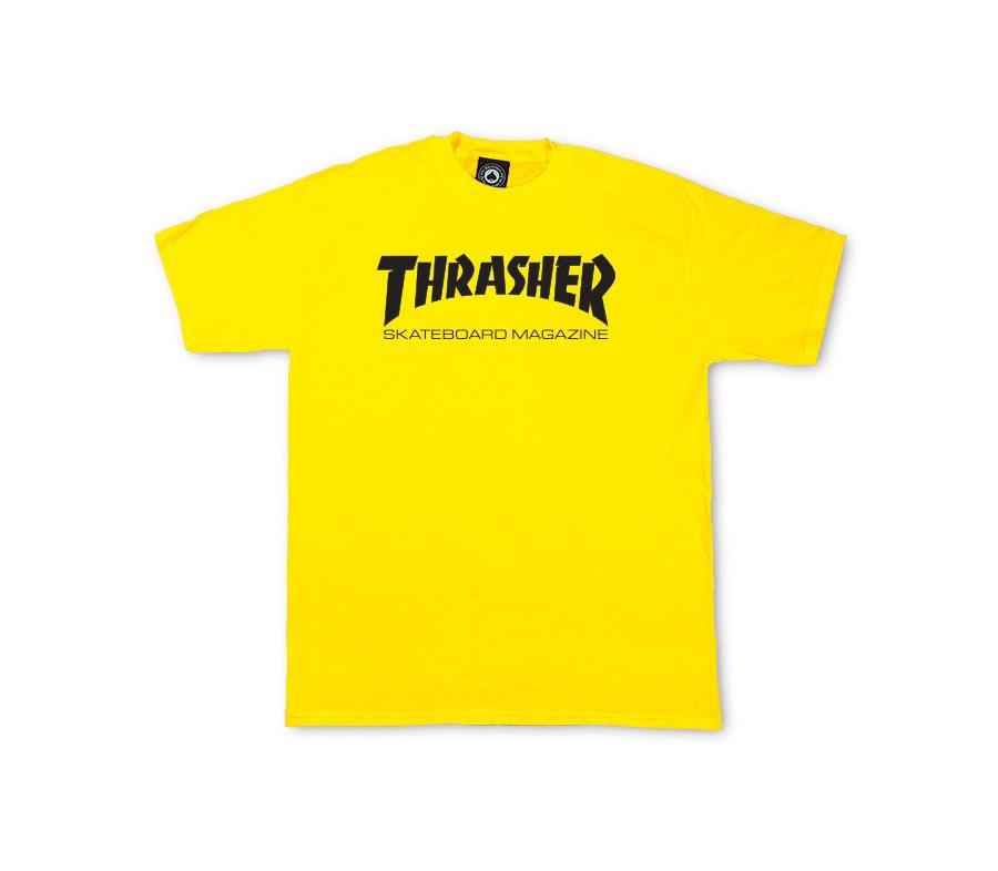 ThrasherSkateMagTeeYellow