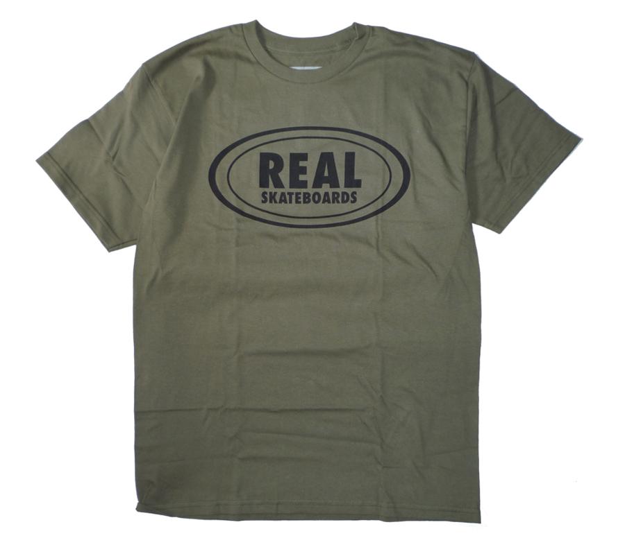 RealOvalMilitaryGreenTee