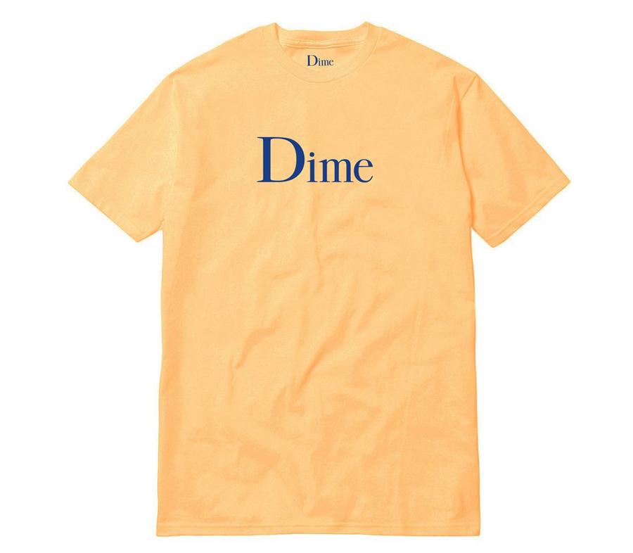 DimeClassicLogoTeePeach