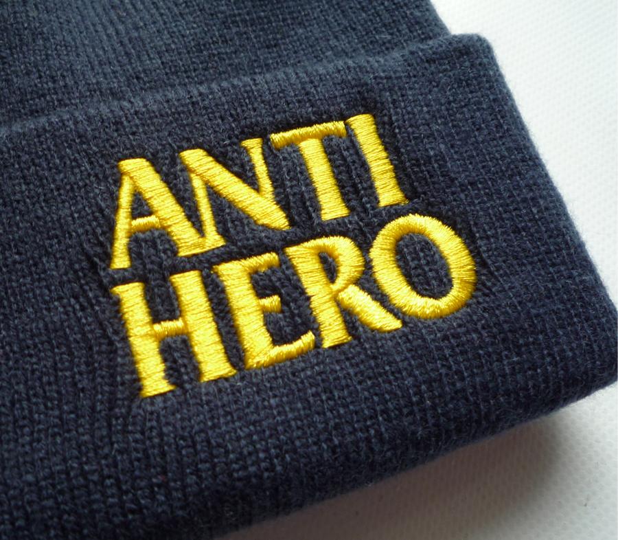 AntiHeroBlackheroEmbroideryBeanieNavy