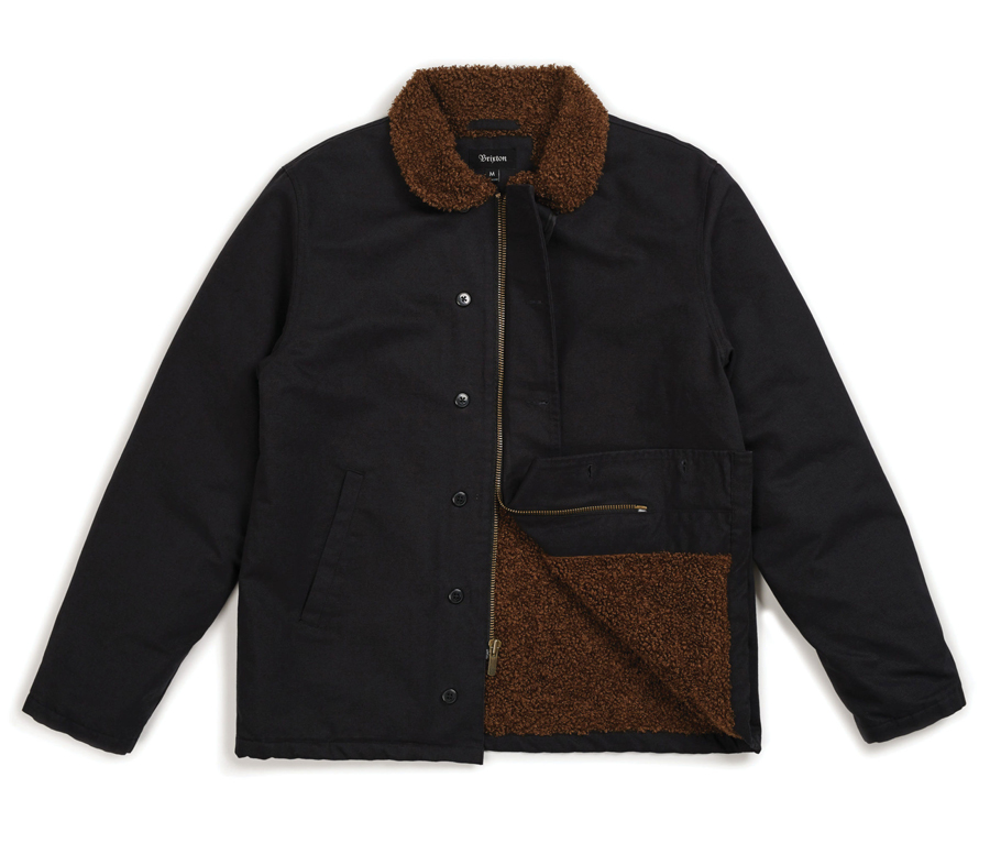 Brixton2018FallMastJacketBlackBrown6
