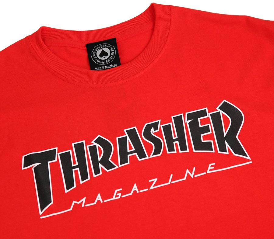 ThrasherOutlinedTeeRedBlack2