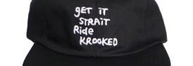 181223KrookedGetItStraitStrapbackCapBlack