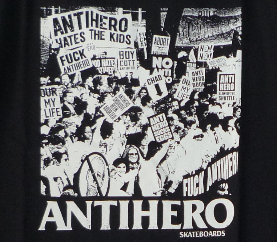 AntiHeroProtestTeeBlack