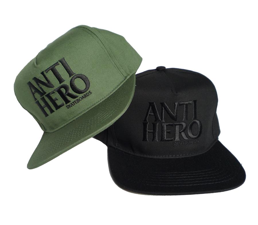 AntiHeroBlackHeroEmbroiderySnapbackCap