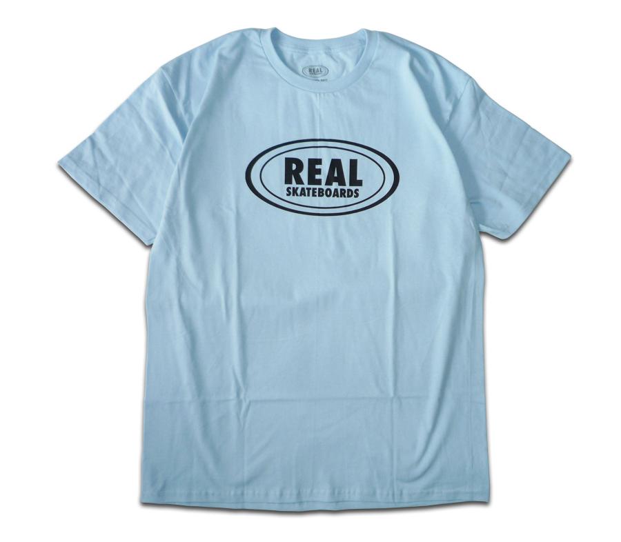 RealOvalLogoTeeLightBlue