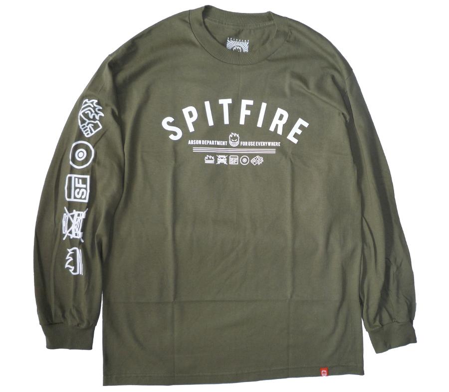 SpitfireBurnDivisionLSTeeMilitaryGreen