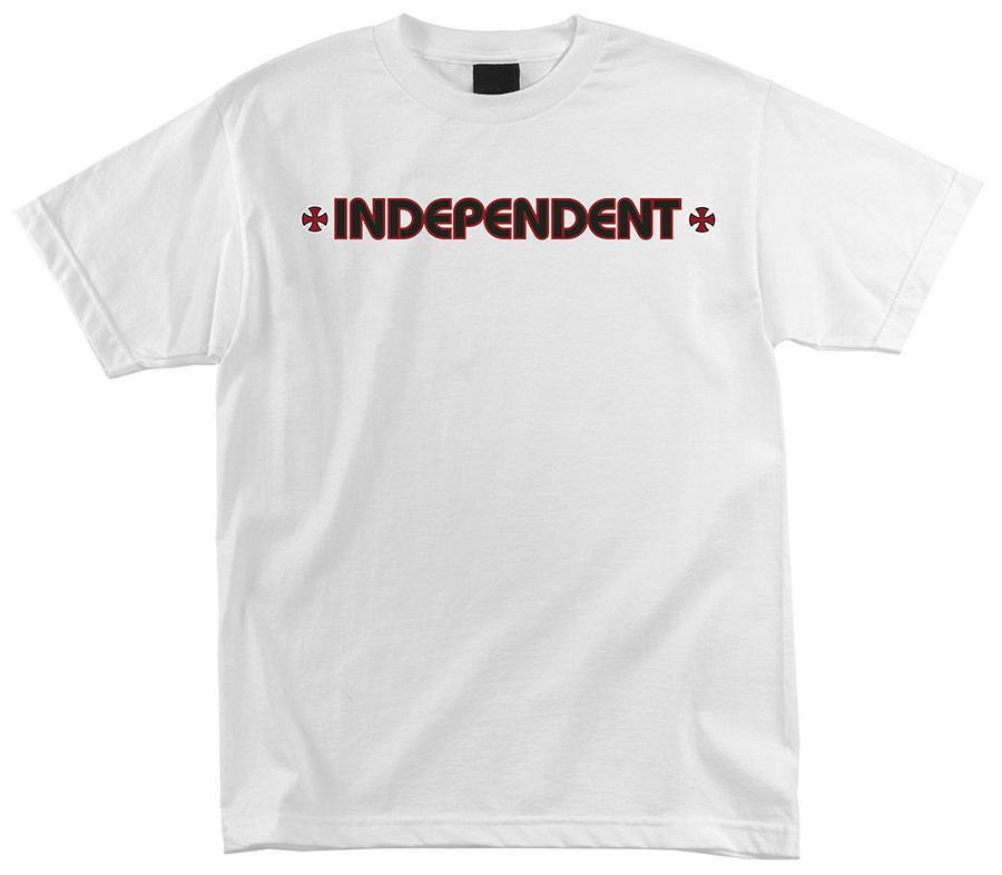 IndependentBarCrossTeeWhite