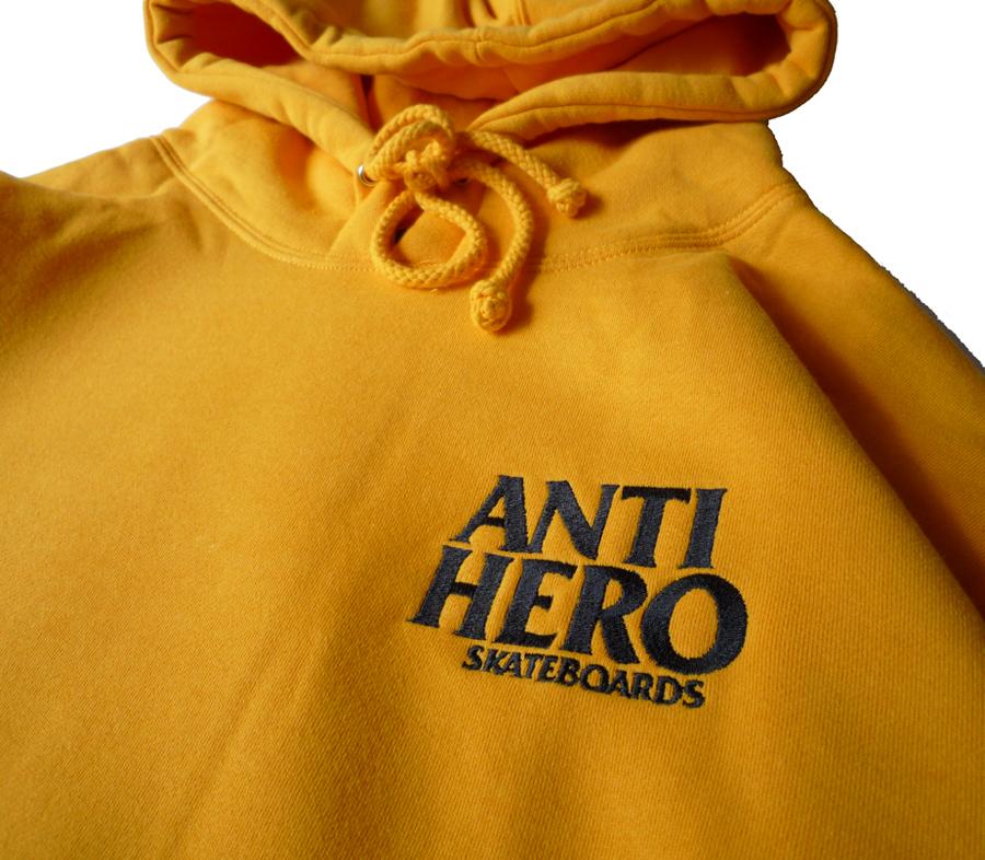 AntiHeroLilBlackHeroEmbroideryHoodieGold2