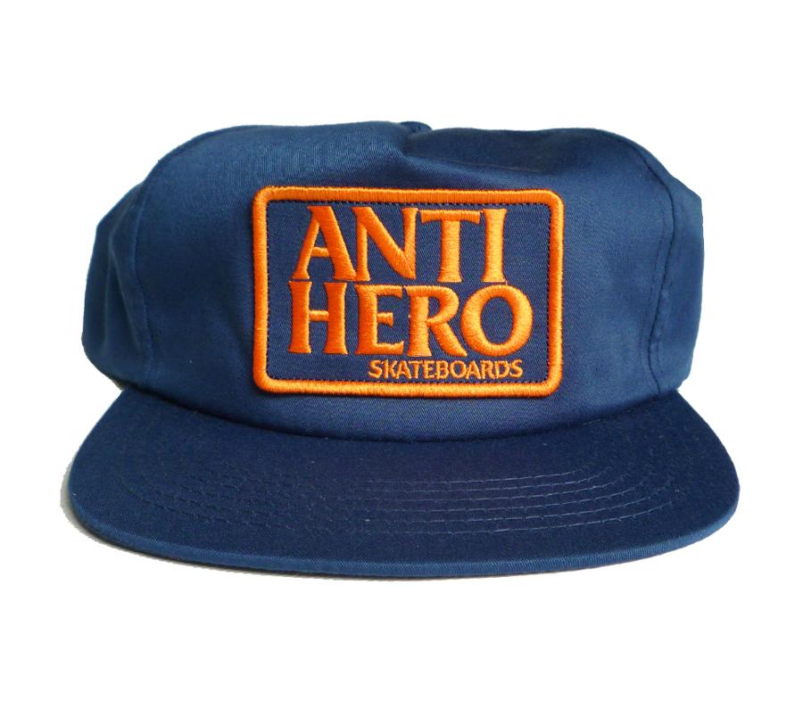 AntiheroReservePatchSnapbackCapNavyOrange