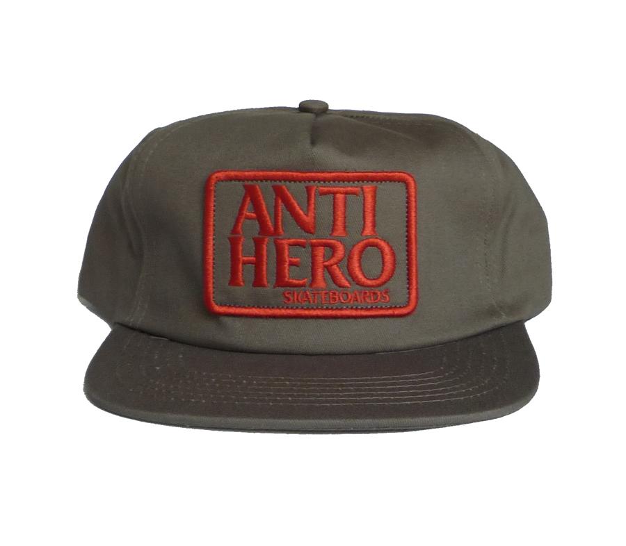 AntiHeroReservePatchSnapbackCapBrownRed