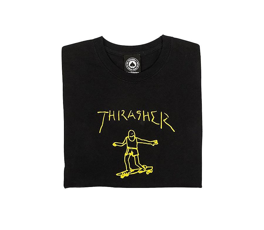 ThrasherGonzTeeBlackYellow