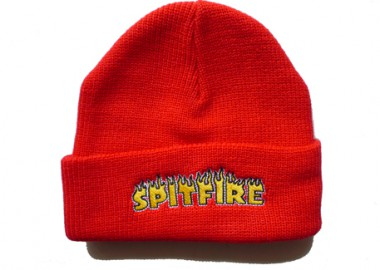 201119SpitfireFlashFireCuffBeanieRed