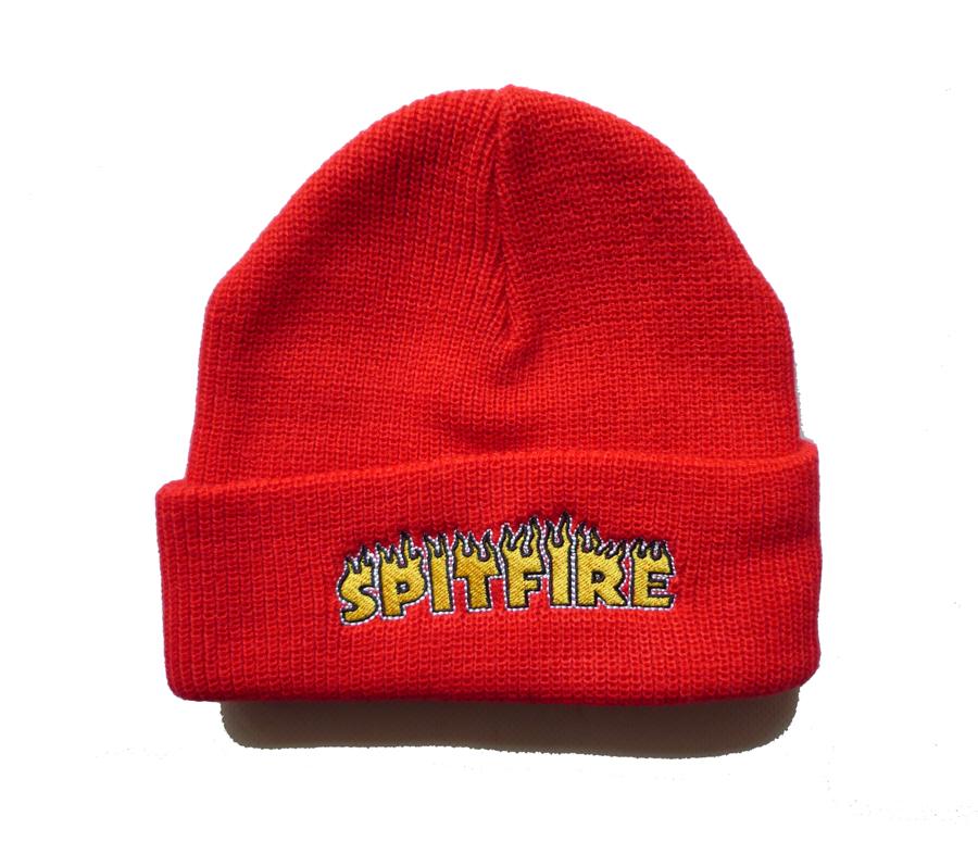 SpitfireFlashFireCuffBeanieRed