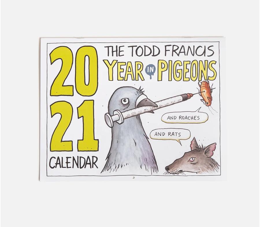 ToddFrancisYearInPigeons2021Calender