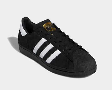 210219AdidasSuperstarADVCoreBlackFootwearWhiteGoldMetalicShoes