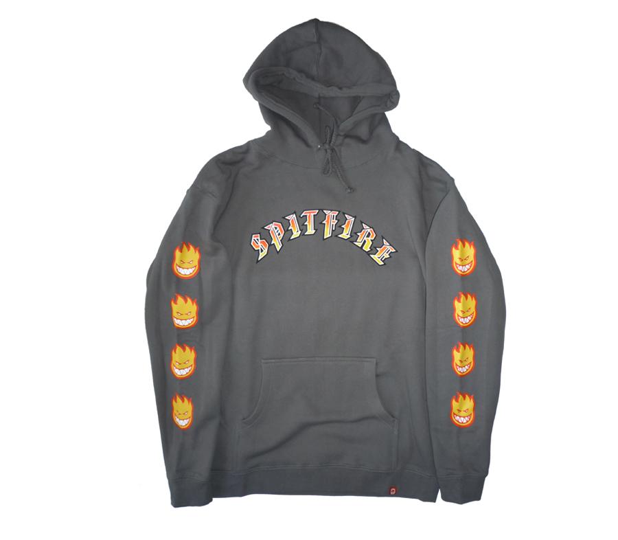 SpitfireOldEBigheadFillSleeveHoodieCharcoal